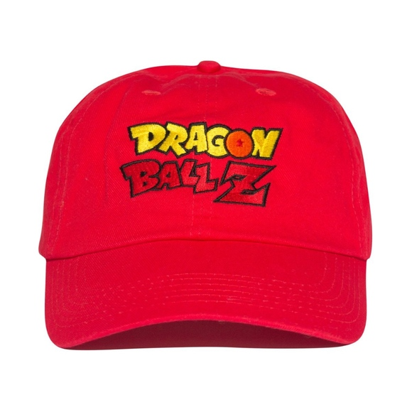 5cd4d179940 Dragon ball z hat red . embroidered